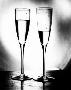 image of champagne glass toast