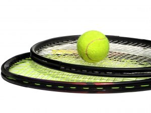 image of tennis racquets for sport and hypnotherapy