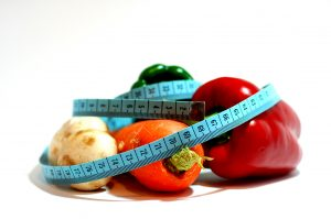 image of veg and measure for hypnotherapy for weight control